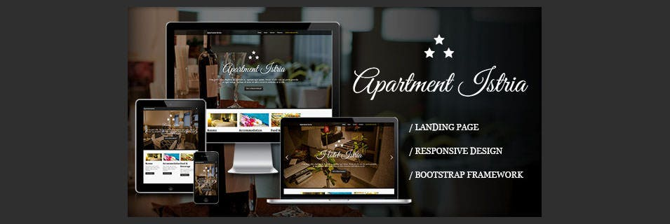 apartment istria responsive landing page