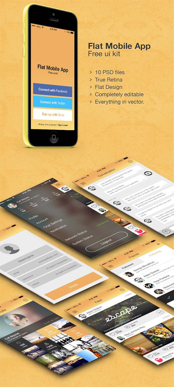 app free ui kit psd