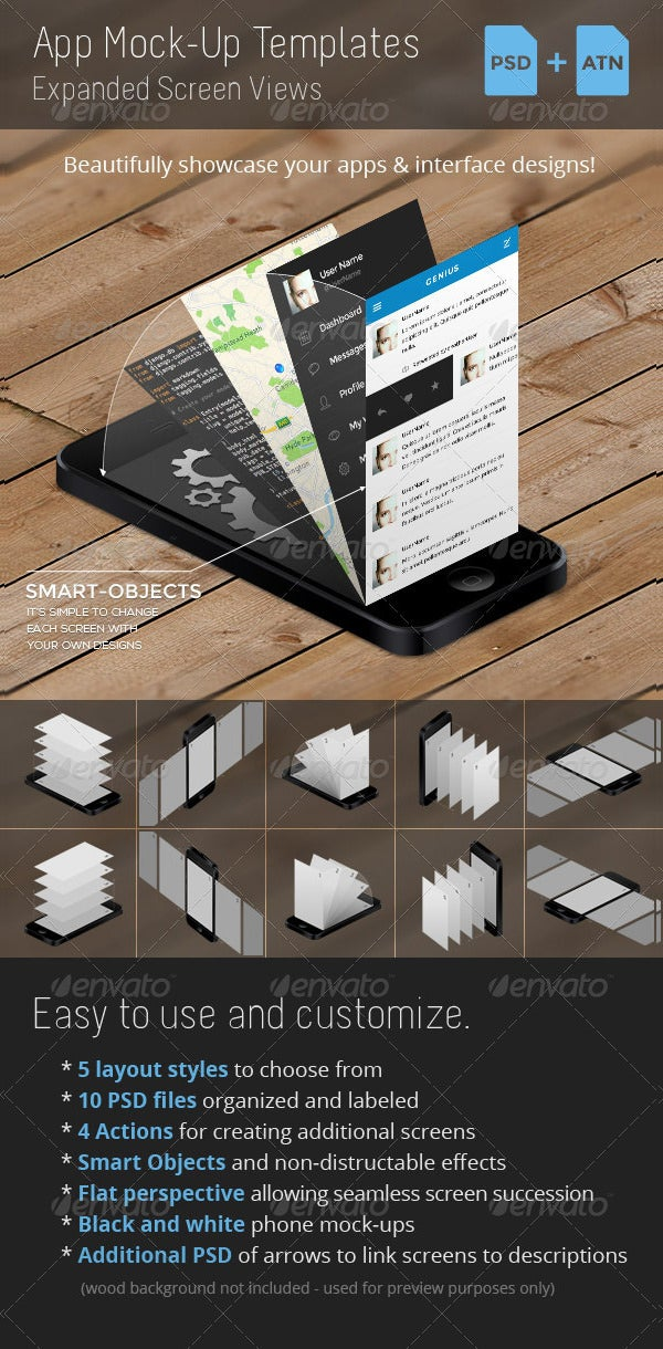 app mock up templates