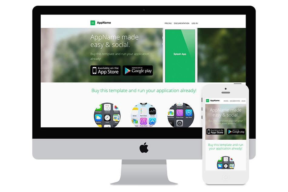 appname app website html template