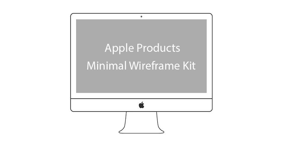 Apple-Products-Minimal-Wireframe-Kit