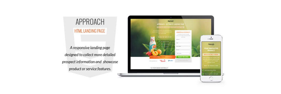 approach html landing page
