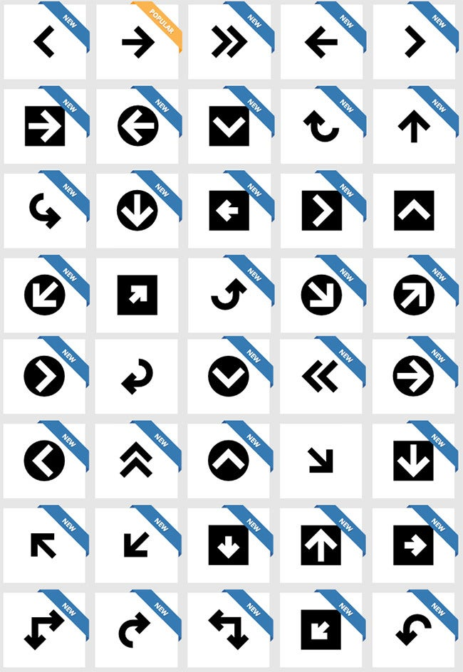 Downloadable 110+ Free Flat UI Icons Pack / Gallery for UI