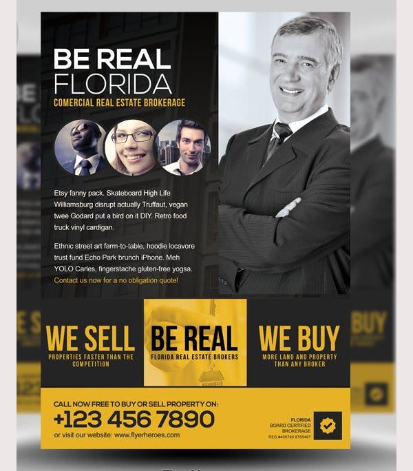 Be Real PSD Flyer Template