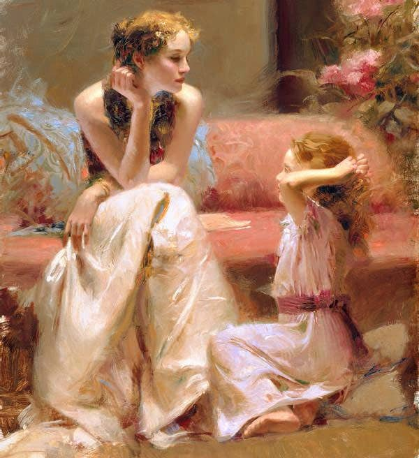 beautiful paintings by pino daeni