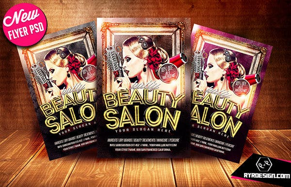 Beauty Salon Flyer PSD By RYR DESIGN
