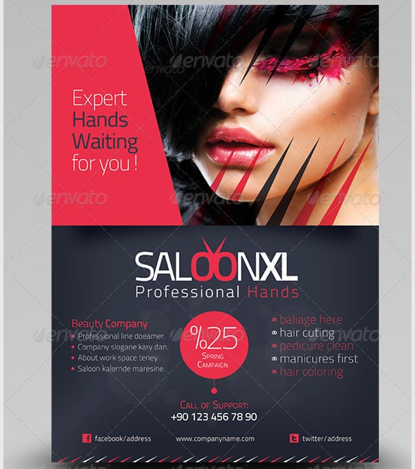 66+ Beauty Salon Flyer Templates - Free Psd, Eps, Ai, Illustrator