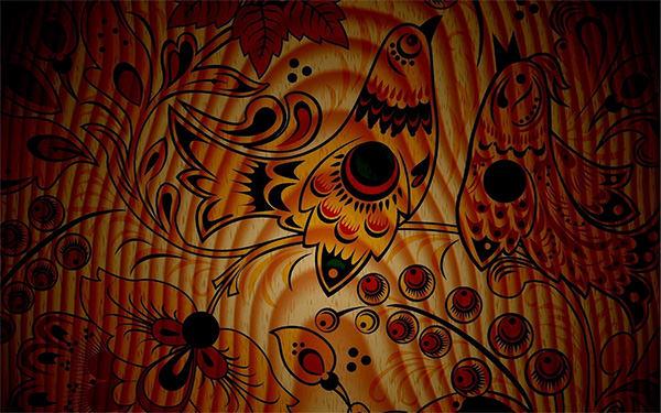birds pattern texture