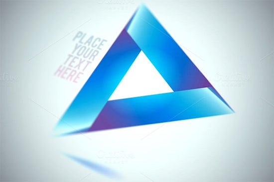 black triangle shape