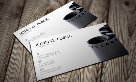 Premium Business Card Templates For Professional Photographers - Photography business cards templates free
