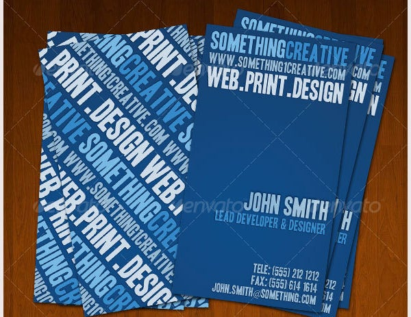 bluish creative designers business card