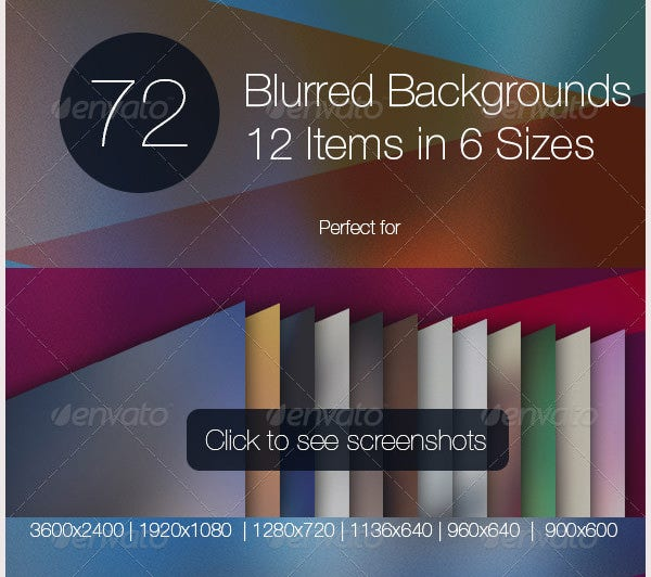 Blurred Backgrounds Set