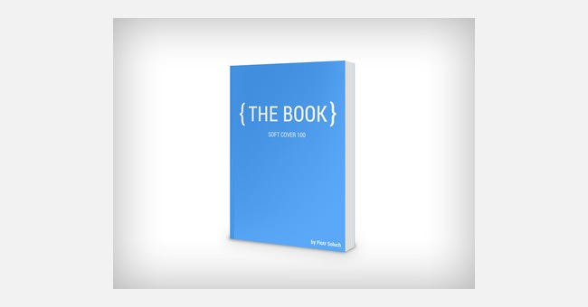 Soft Cover Book Mockup Template : Book cover design template psd illustration