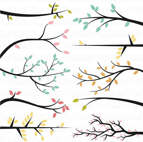 branch silhouettes photoshop brushes