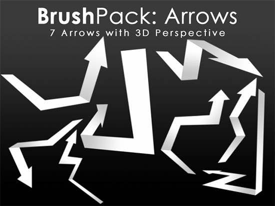 brushpack 3d arrows