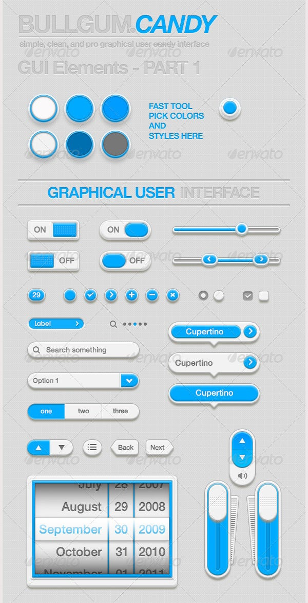 BullzGumCandy-UI & Buttons Pack