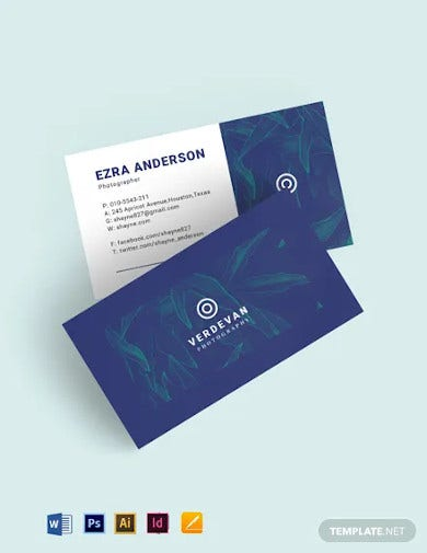 business cards for photographer template
