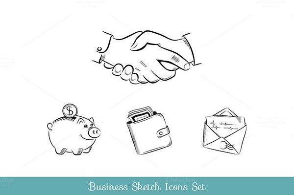 Business and finance sketch icons se