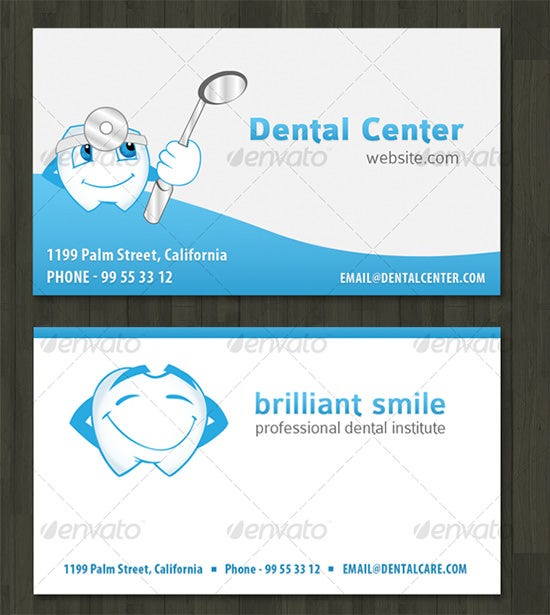 business card for dentist