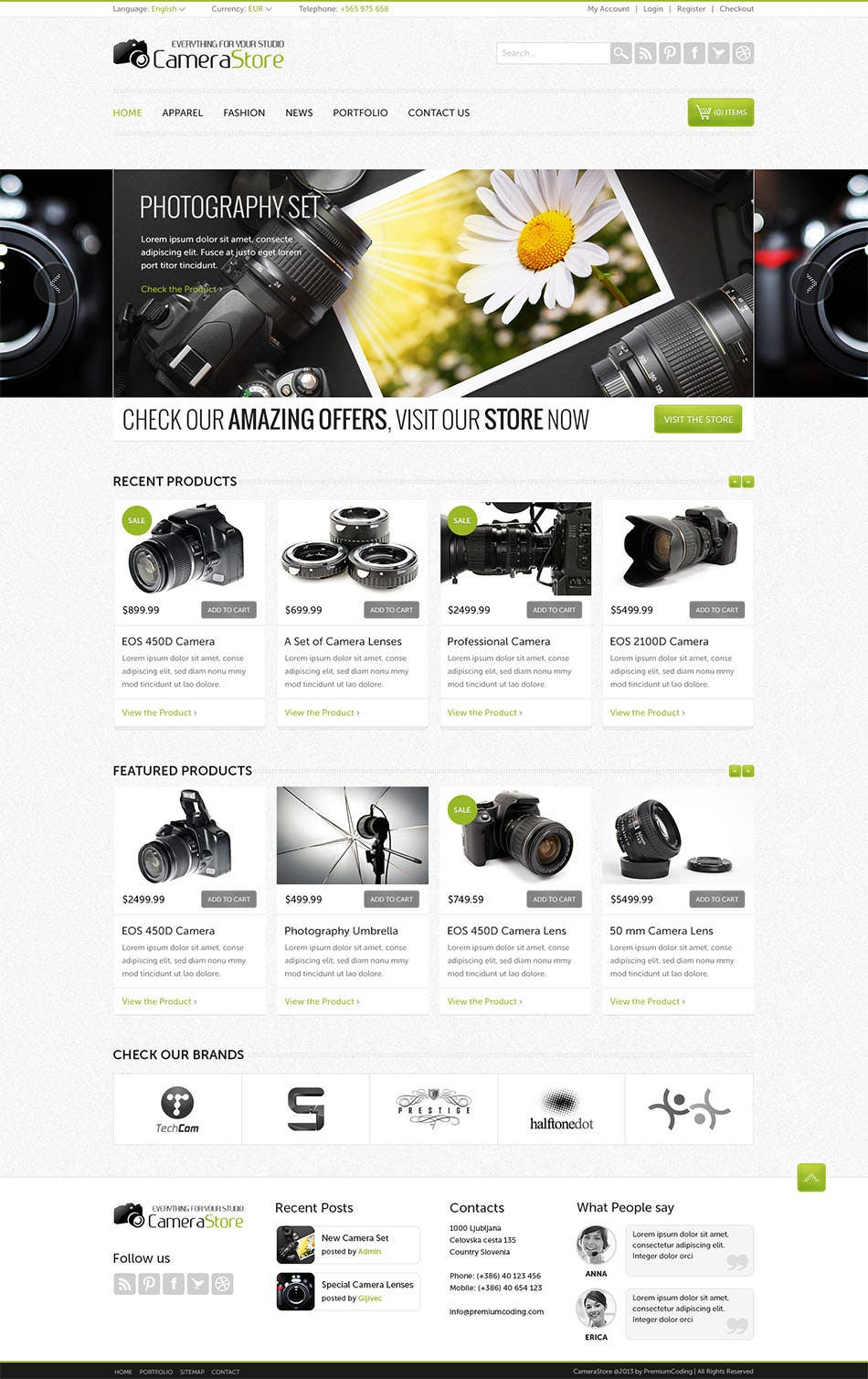camy ecommerce website template