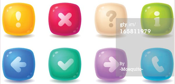 Candy Web Buttons
