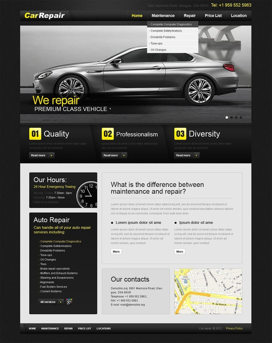 71 premium psd website templates free premium templates car repair psd template maxwellsz