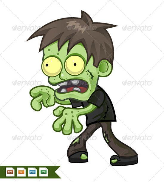 cartoon zombie 4