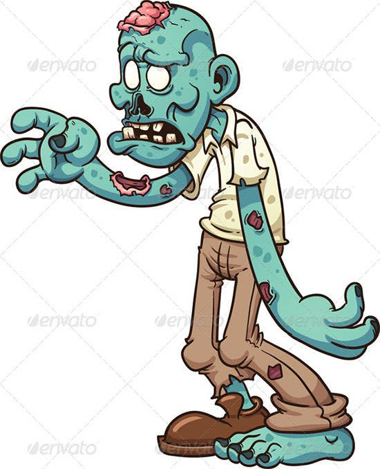 cartoon zombie 5