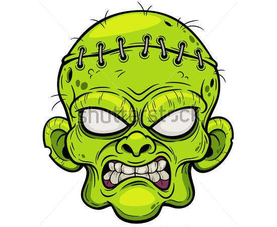 cartoon zombie face