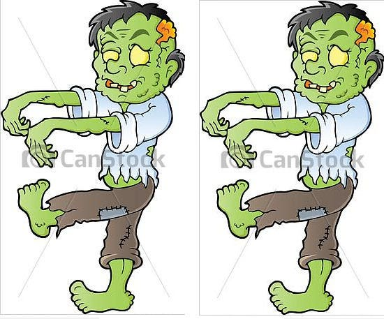 cartoon zombie theme