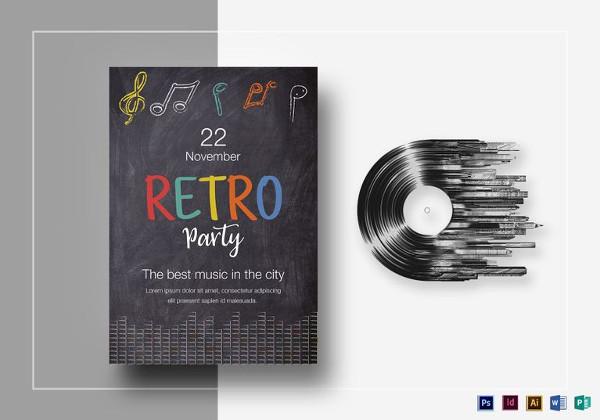 chalkboard-retro-party-flyer-template