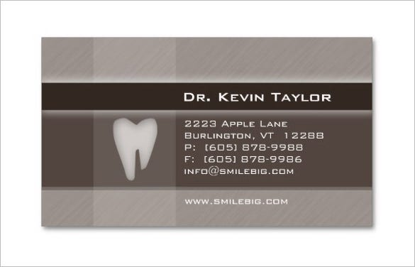 cheap dentist business card