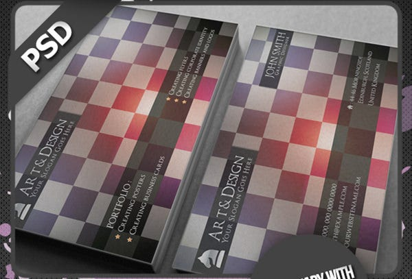 chess designer business card