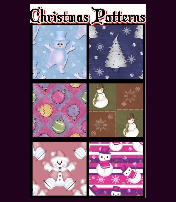christmas patterns1