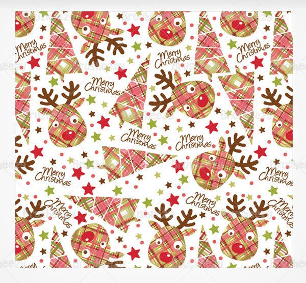 christmas reindeer photoshop pattern