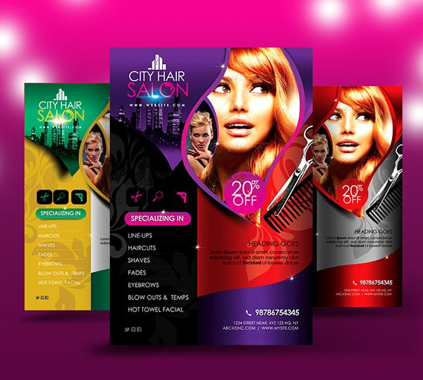 Free Beauty Salon Flyer Templates Choice Image Template Design