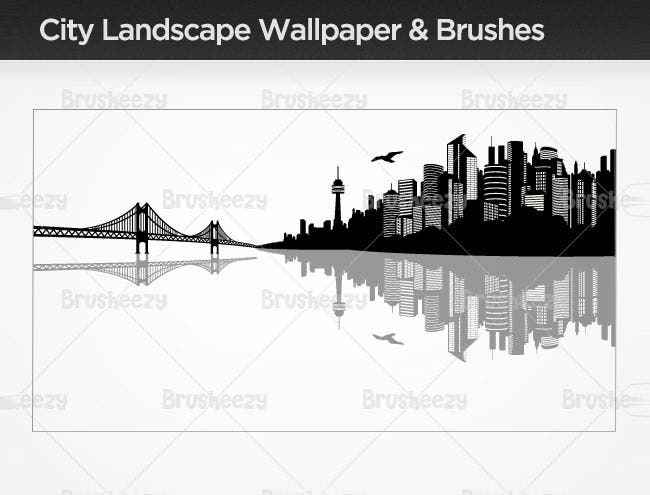 city landscape brush pack