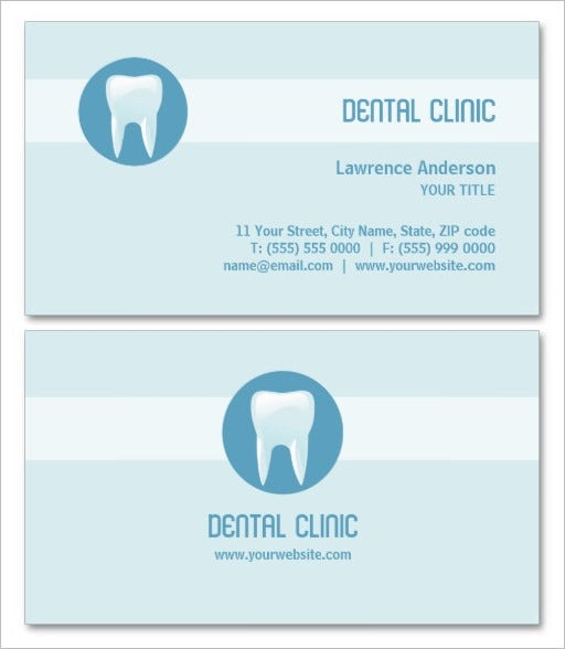 clean dental clinic business card