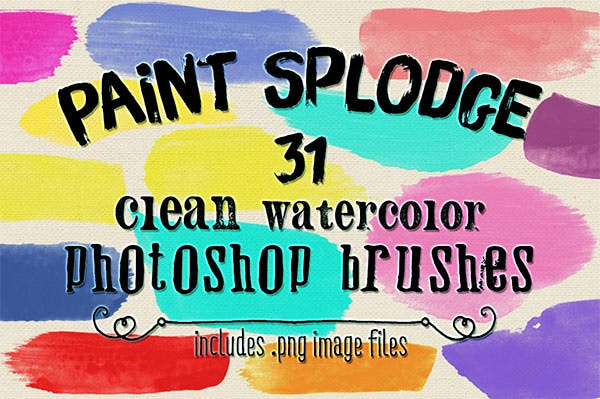 clean paint splodges ps brushes