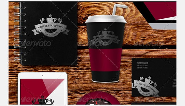 coffee stationery mockups
