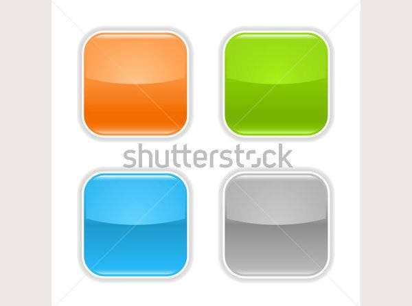 colored glossy blank web button