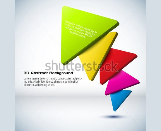 colorful 3d triangle