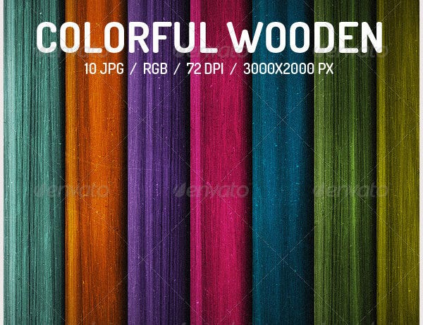 colorful wooden backgrounds