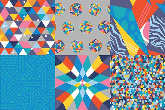 colorful geometric pattern set 2
