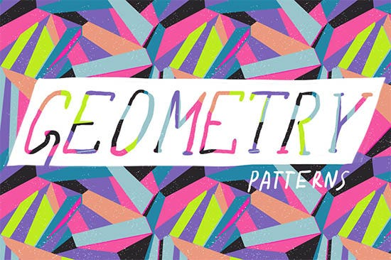 colorful geometric pattern set