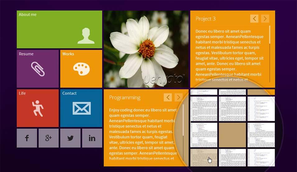 concrete5 responsive vcard theme