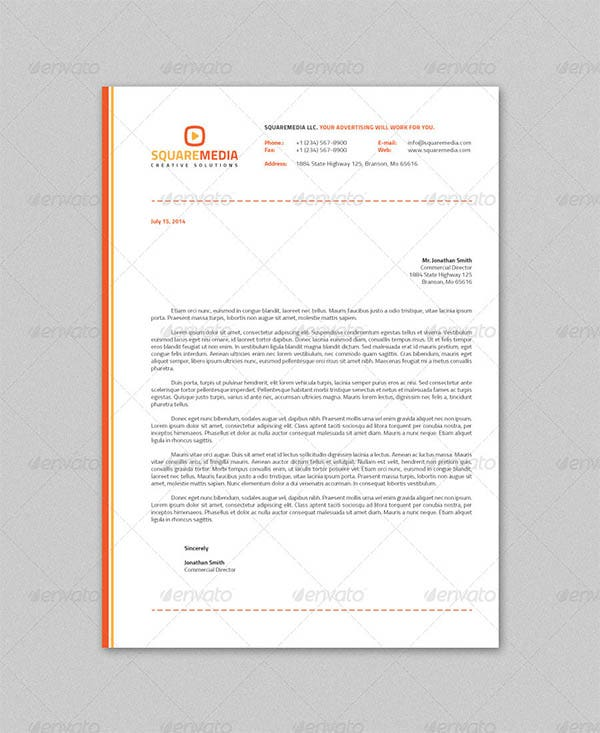 Elegant Professional Corporate Letterhead Template 000890: 51+ Free PSD Format Download
