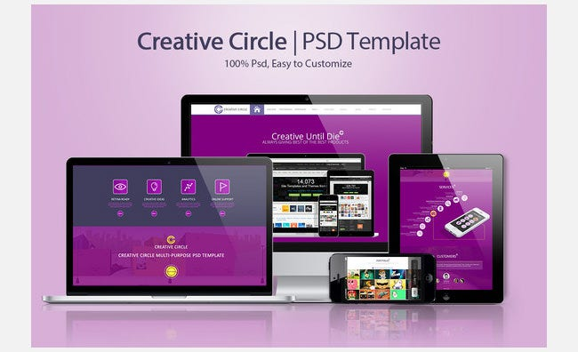 creative circle psd template