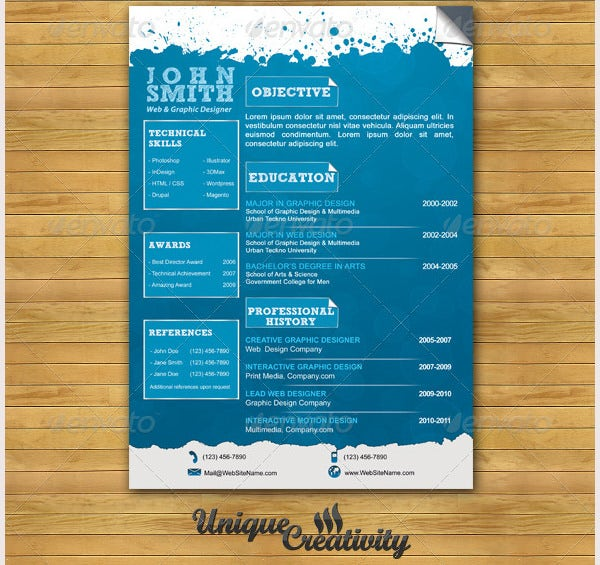 creative designer resume cv template - Creative Design Resume Templates