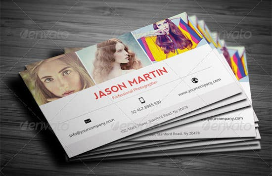 creative photographer business card 2